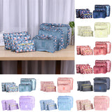 6Pcs/Set Mesh Travel Storage Bag Clothes Tidy Pouch Portable Suitcase Luggage Organizer Bag Home