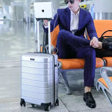 "Original Design Multi-Function Rolling Luggage Men Women Boarding Travel Trolley Case 20""24""28"" Usb"