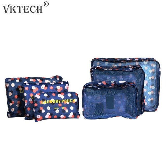 6Pcs/Set Suitcase Shoes Underwear Travel Storage Bag Waterproof Luggage Organizer Clothes Packing