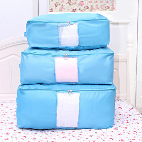 Diniwell Quilt Storage Bag Oxford Cloth Home Clothes Quilt Pillow Blanket Storage Box Travel