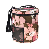 Nylon Yarn Storage Bag Women Big Capacity Cylinder Crochet Hook Knitting Pouch Home Organizer