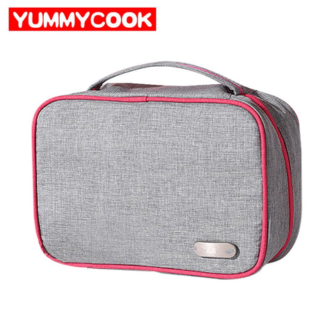 Portable Cosmetic Travel Set Storage Bag Polyester Makeup Organizer Toiletry Zipper Pouch Home