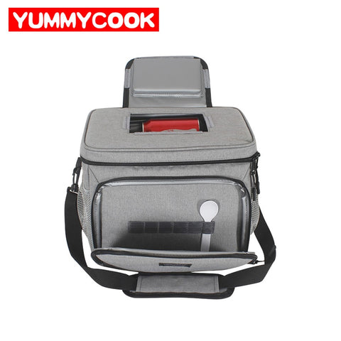 Women Men Insulated Lunch Box Thermal Cooler Bag Picnic Fruit Drink Fresh Keeping Shoulder Pouch