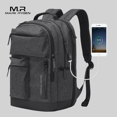Mark Ryden Man Backpack Multi-Layer Space 15.6 Inch Laptop Usb Recharging Travel Male Bag