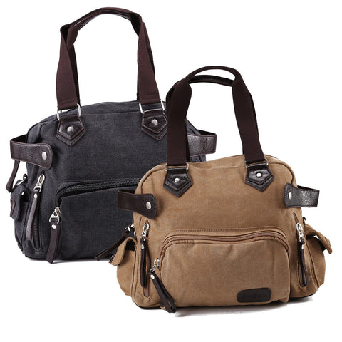 <Ship From Us> Vintage Large Canvas Men'S Travel Luggage Shoulder Bag Tote Gym Overnight