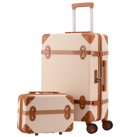 Travel Suitcase Set Rolling Luggage Trolley Case Travel Bag Retro Suitcase Spinner Wheels Women