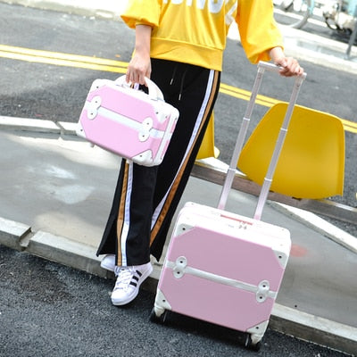 Travel Suitcase Set Rolling Luggage Trolley Case Travel Bag  18Inch Boarding Suitcase Spinner