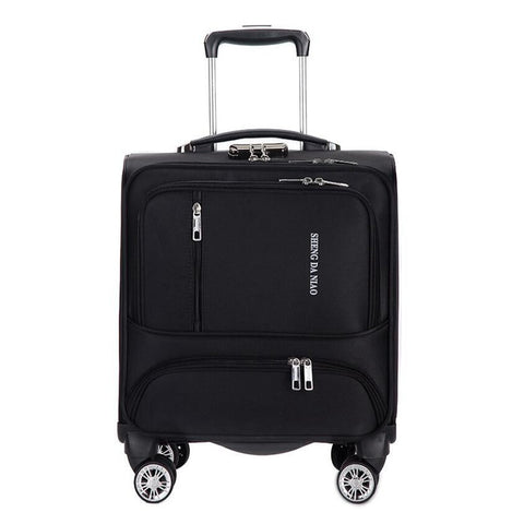 Travel Suitcase With Wheels Rolling Luggage Spinner Trolley Case 18 Inch Boarding Laptop Bags Woman