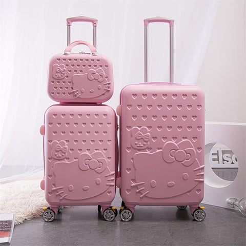 "New Cartoon Two-Piece Trolley Case,Universal Wheel Luggage,24""Rolling Password Lock"