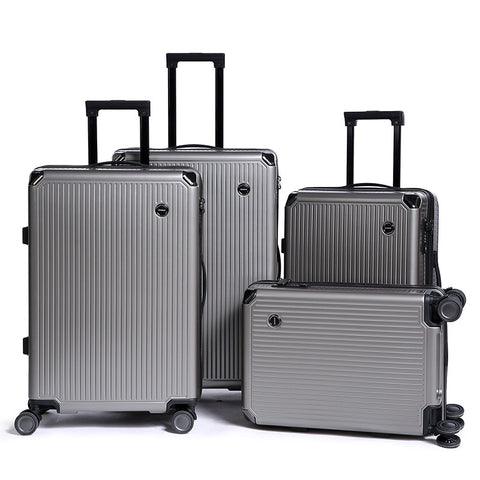 Travel Luggage Trolley Alloy Business Rolling Airplane Luggage Explosion Proof Zipper Suitcase
