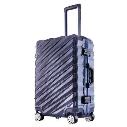 "New Fashion 20""24""26''28""  Rolling Hardside Luggage Travel Suitcase With Wheels Aluminum+Abs+Pc"