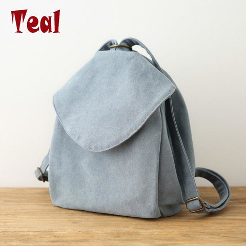 2019 Casual Canvas Women'S Bag Double Shoulder Bag Art Small Fresh Fresh Color Cloth New Wild