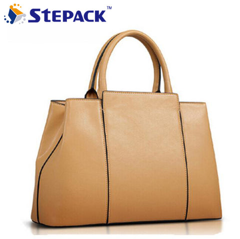 Hot Fashion 2015 Leather Women Bag Messenger Bags Shoulder Bag Handbags European Brief Style Tote