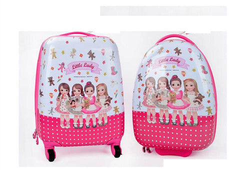 Kid Travel Rolling Suitcase 18 Inch Kids Suitcase Cabin Luggage Suitcase For Girls Trolley