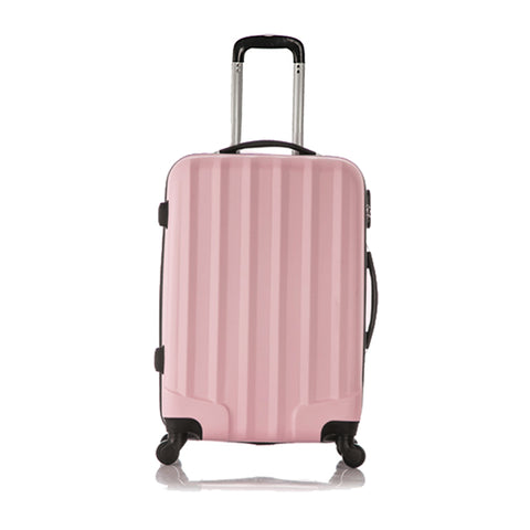 4 Wheels Trolley Suitcase Gray/Pink/Black 20/24/28-Inch
