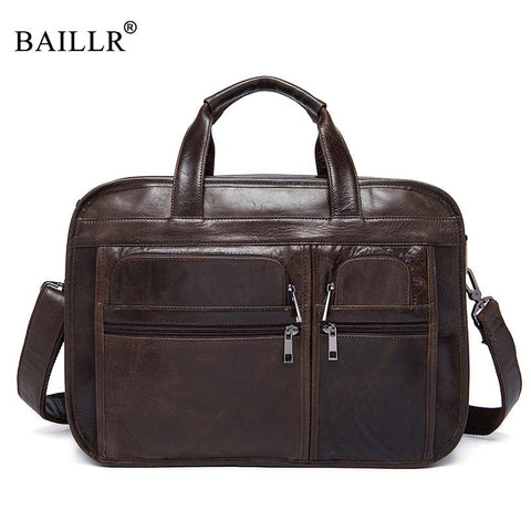 Baillr Brand High Quality Genuine Leather Tote For Men Business Briefcase Luxury Design Cross