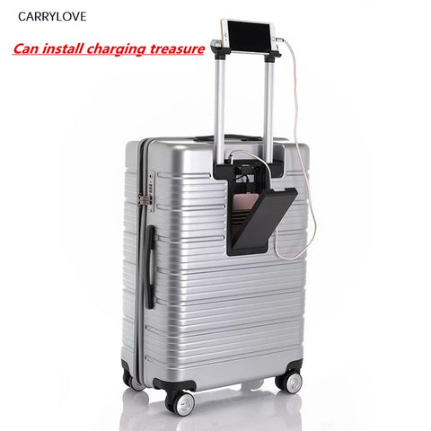 Travel Tale Rolling Travel Luggage Bag,Wheel Suitcases With Charging Treasure,Women New