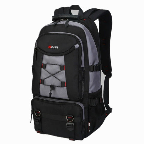 Large Capacity Travel Backpack Shoulder Bag Men Mountaineering Oxford Lockable Waterproof Weekend