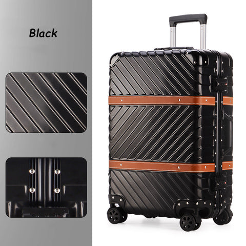 Hotsale!24Inch Europe Vintage Fashion Aluminum Frame Trolley Luggage For Men And Women,Abs+Pc Retro