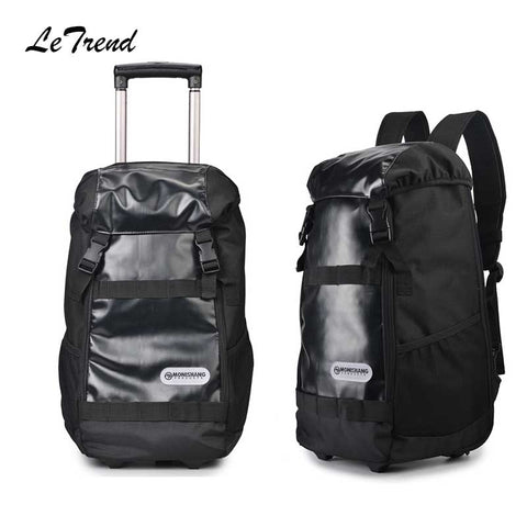 Letrend Large Capacity Multifunction Travel Bag Rolling Luggage Business Shoulder Bag Trolley 20