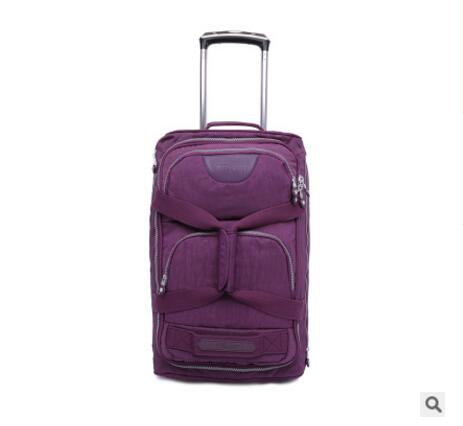 Rolling Luggage Bag  Travel Boarding Bag On Wheels  Travel Cabin Luggage Suitcase Nylon Wheeled