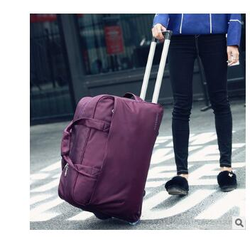 20 Inch Travel Trolley Bags For Men Carry On Luggage Bags Rolling Bag With Wheels Travel Duffel For