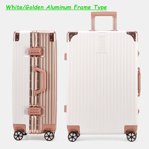 Fashion!26Inches Abs+Pc Hardside Case Trolley Luggage On Universal Wheels,Women Lovely Trave