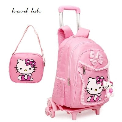 Travel Tale Cartoon Superman/Cute Kt Nylon Rolling Luggage Children'S Schoolbag/Parcel Brand Travel