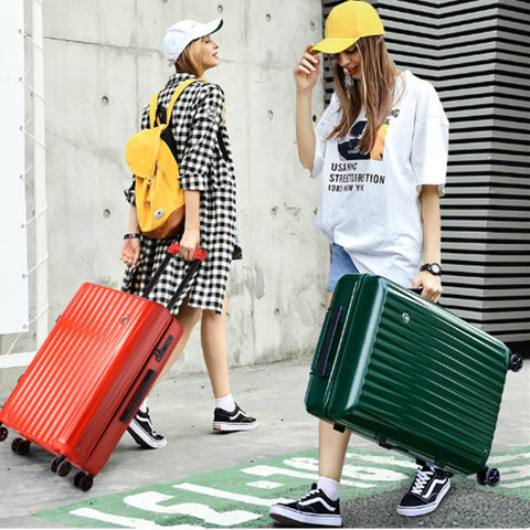 100% Abs+Pc Suitcase Colorful Rolling Luggage Lightweight Carry On Spinner Wheel Travel Tsa Lock