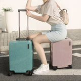 20''24''Zipper Glittering Luggage Surface, Pc Shell & Metal Drawbar Rolling Luggage Bag Trolley