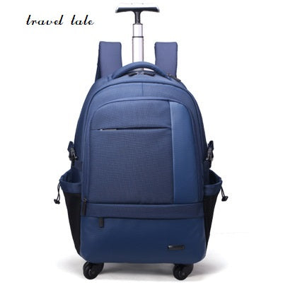 Travel Tale Two Color Fashion Large Capacity Polyester Rolling Luggage Travel Duffle Men/Women