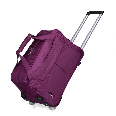 Male And Female 22Inches Oxford Waterproof Travel Trolley Luggage Bag On Fixed