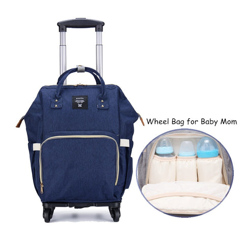 Wholesale!Baby Momi Wheel Travel Bag,Large Capacity Canvas Travel Bag For Women,Detachable Travel