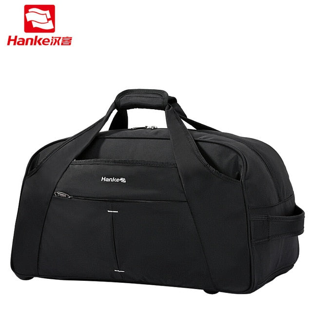 Hanke Men Aluminum Alloy Travel Bag Male Female On Wheels Duffle Messenger Handle Bags Women Travel