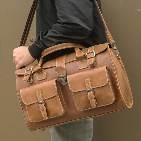 Men'S Travel Bag Real Leather Business Vintage Bags  Handbags Man  Shoulder Messenger Crossbody