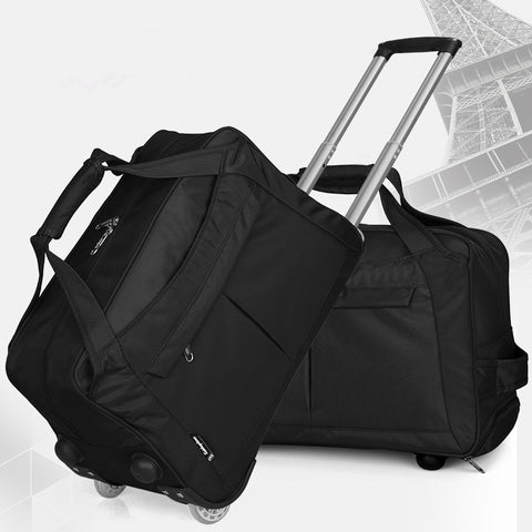 New Arrival!20 Inches Large Capacity Oxford Travel Trolley Luggage Bags,Female Fixed Caster