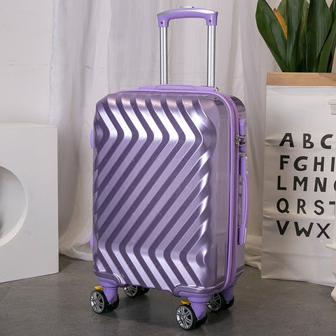 "Pc+Abs Suitcase,Women'S 20""Universal Wheel Boarding Box,Password Lock Valise,Student Leather"