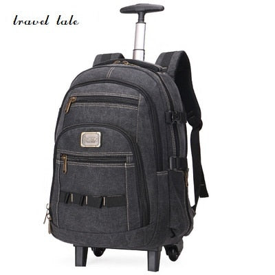 Travel Tale Different Sizes Three Kinds Of Color Fashion  Rolling Luggage   Canvas Travel Duffle