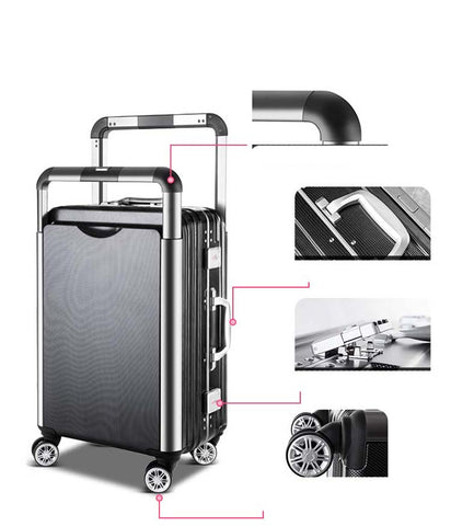 Travel Tale Couple Rolling Luggage Spinner Men Suitcase Wheels Women Trolley Aluminum Frame