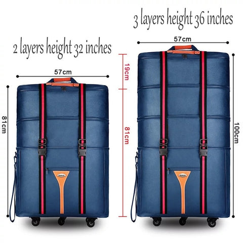 Travel Tale 32 36 Inch Large Capacity Oxford Cloth Rolling Luggage Bag Abroad To Study And Move