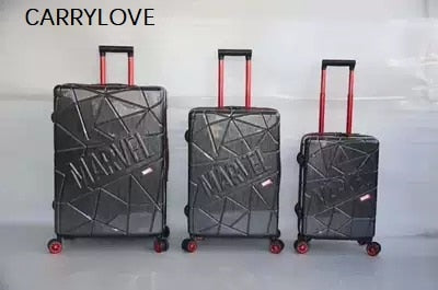 Unique Custom Version, Invincible Hero 20/24/28 Inch Size Pc Rolling Luggage Spinner Brand Travel