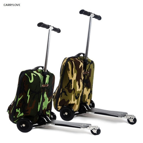 Travel Tale Turnable Detachable Sports Scooter Luggage Backpack Rolling Luggage Business Travel
