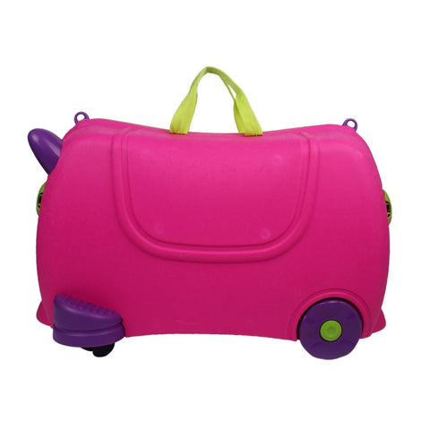 Wholesale!Children'S Lovely Cute Boy'S Girl'S Ride Box On Fixed Caster,Green Hot Pink /Blue Child