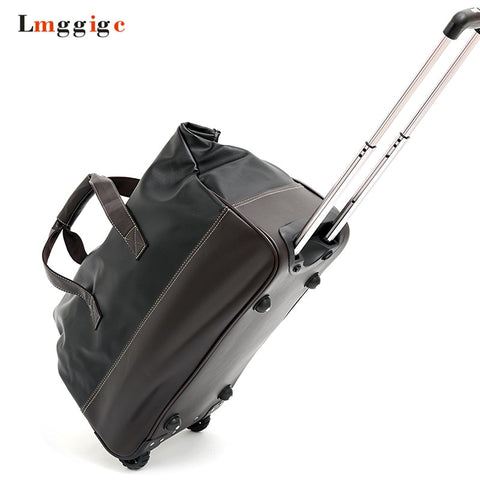 High Quality Pu Leather Rolling Luggage,Wheel Travel Suitcase Bag ,Portable Tow Bag,Cabin