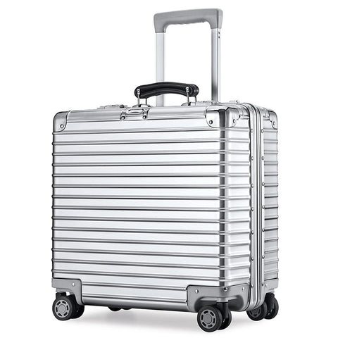 Aluminum Magnesium Alloy Pull Rod Box Carryon Suitcase Female 18 Inch Computer Suitcase Men