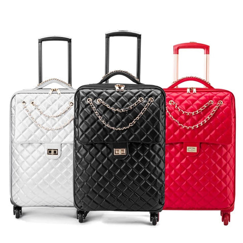 Universal Wheel Travel Bag Suitcase Carry On Trolley Bag Spinner Women Cabin Luggage Bag Girl
