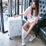Kids Anime Rolling Luggage Set Women Trolley Suitcase Girls&Child Pink Cute Spinner Brand Carry