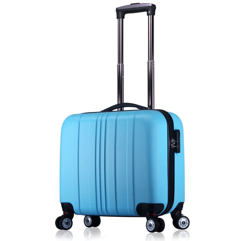 Unisex Abs Spinner Carry On Small Suitcase Business Scrubed Travel Small Luggage 16 Inch Carry-On
