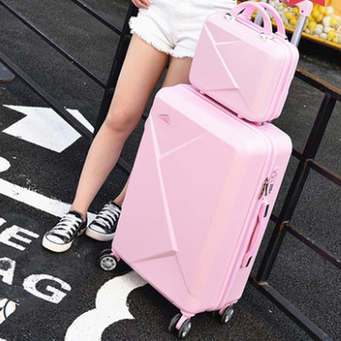 Korean Version Match Girl Lovely Cosmetic Bag 20/22/24/26/28 Inches Students Trolley Case Travel