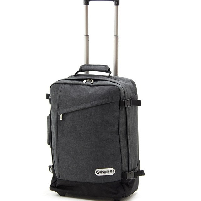 Carrylove  Large Capacity Shoulders Travel Bag Ultralight Rolling Luggage Backpack 20 Inch Carry On